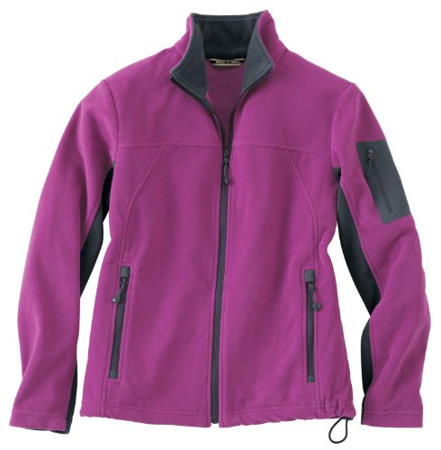 Ladies Front Coil Full-Zip Anti-Pill Microfleece Jacket, Plum Rose, X-Large