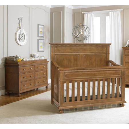 Full Size Conversion Kit Bed Rails for Dolce Babi Naples Crib - Walnut Brown by CC KITS (Image #5)