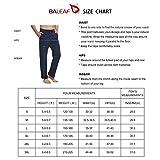 BALEAF Men's Active Yoga Sweatpants Cotton Open