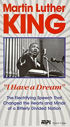 Amazon Com Martin Luther King Jr I Have A Dream Vhs Martin