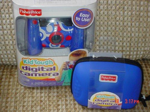 Fisher Price Kid Tough Blue Digital Camera + Bonus Blue Case Set - Kid Tough Digital Camera Case