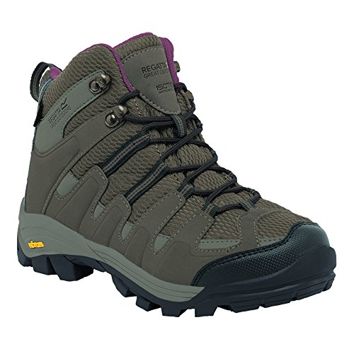 Regatta Womens/Ladies Burrel Isotex Waterproof Walking Boots Gris/morado
