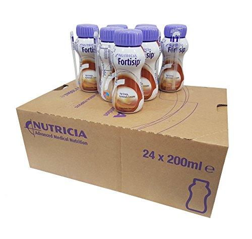 24X FORTISIP CHOCOLATE NUTRITIONAL HIGH ENERGY MILKSHAKE SUPPLEMENT 200ML BOTTLE