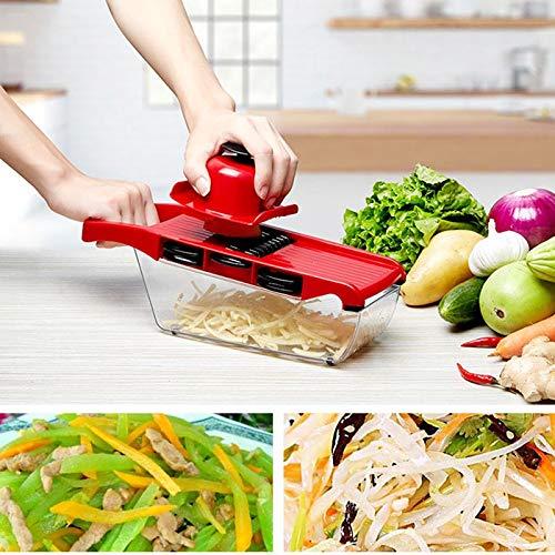 Creative Mandoline Slicer Vegetable Cutter - with Stainless Steel Blade - Manual Potato Peeler Carrot Grater Dicer by Gano Zen (Image #2)