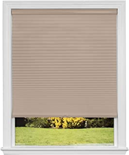 product image for Artisan Select No Tools Custom Cordless Cellular Blackout Shades, Khaki, 37 7/8 in x 72 in