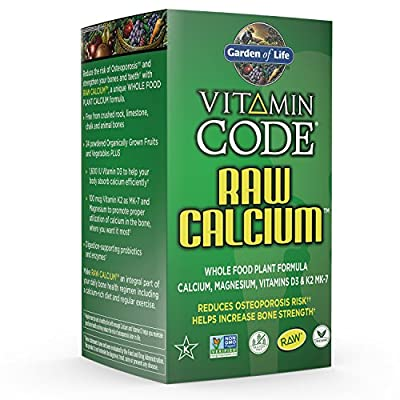Garden of Life Raw Calcium Supplement - Vitamin Code Whole Food Calcium Vitamin for Bone Health
