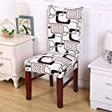 Floral Printing Anti-Dirty Stretch Chair Covers Elastic Chair Protector Slipcover Dinning Room Color 8 Universal Sizes