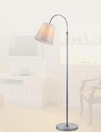 ZHANGRONG-Boden Lampen- Eisen Tuch Schatten Modern ...
