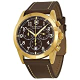 Swiss Army 241647 Men's Infantry Brown Dial Brown Leather Strap Chronograph Watch