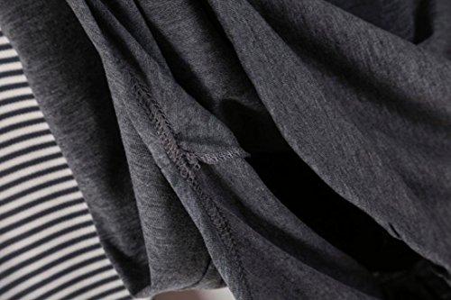 WINWINTOM Damen Blusen T-Shirt grau grau