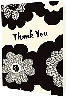 product image for Bold Blossoms Thank You Cards (8 Pack) by Night Owl Paper Goods
