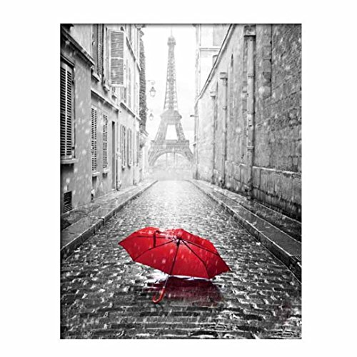 Usstore 5D DIY Embroidery Rhinestone Iron Tower Diamond painting Cross Crafts Stitch Home Room Decor Decoration Cross Stitch Art Mural (A)