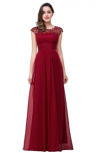 64f7ef612 Elegantes Vestidos De Noche Damas De Manga Corta Cuello Tamaños Cómodos  Redondo Encaje Gasa Vestido De