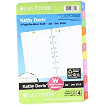 "Day-Timer Two Page Per Week Planner Refill, January 2018 - December 2018, 5-1/2"" x 8-1/2"", Loose Leaf, Desk Size, Kathy Davis, Multicolor (52122-1801)"