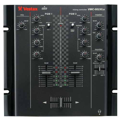 Vestax VMC-002XLU TUB 2-Channel HipHop / Scratch DJ Mixer with USB (Black)