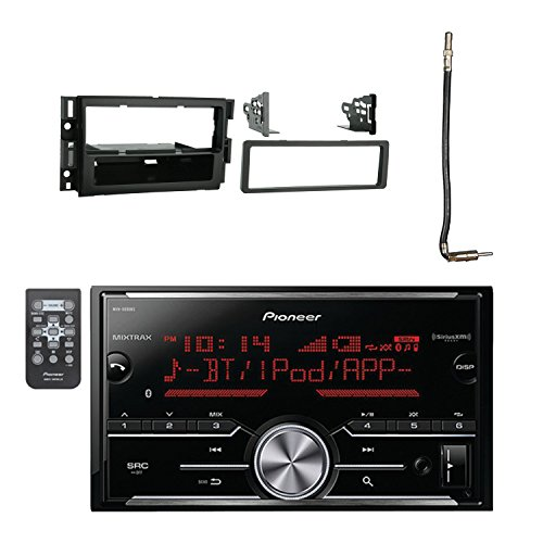 Pioneer Vehicle Digital Media 2DIN Receiver with Bluetooth Enhanced Audio Functions, Black with Metra General Motors 06-UP Dash Multi Kit and Metra Chrysler 2002 Antenna Adapter Cable