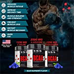 Mypro Sport Nutrition Premium BCAA's with 5G of Pure Proven 2:1:1 Ratio Muscle Recovery-Muscle Protein Synthesis-Lean Muscle-Improved Performance-Hydration-50 Servings-250 Gm (Blue Raspberry)