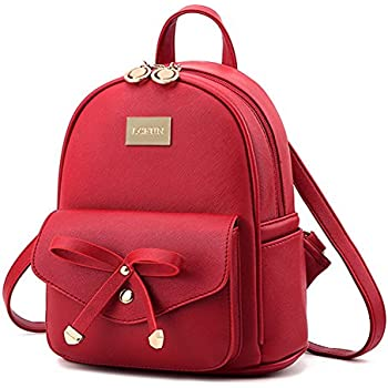 Amazon.com | Cute Mini Leather Backpack Fashion Small