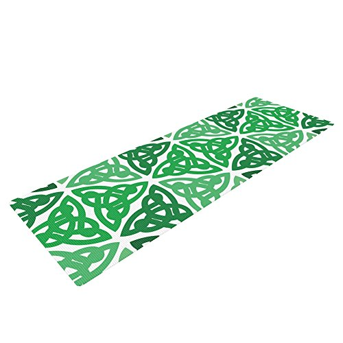 Kess InHouse Kess Original Celtic Knot Green Exercise Yoga Mat, Forest Mint, 72