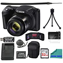 [Patrocinado] Canon PowerShot SX420 is Wi-Fi Digital Camera (Black) with 32GB Card + Case + Battery & Charger + Tripod + Sling Strap + Screen Protector + USB Readers + Accessory Deluxe Swag Man Bundle