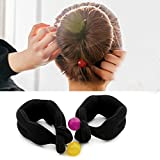 2PCS Sponge Bun Shaper Curlers- French Twist Hairstyle Dount Ponytail Twister Hair Styling Tools(Black)