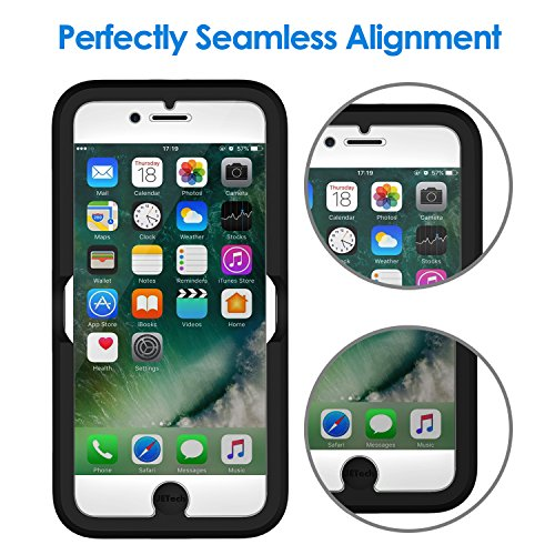 JETech Screen Protector for Apple iPhone 8, iPhone 7, iPhone 6s, iPhone 6, 4.7-Inch, Tempered Glass Film with Easy-Installation Tool, 2-Pack by JETech (Image #1)