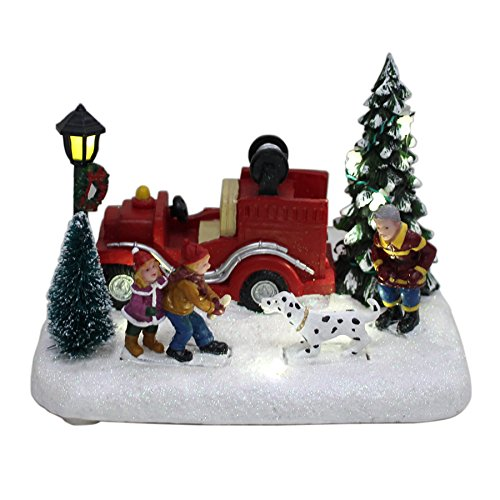 Carole Towne Fetch Fido Lighted Village Scene For Christmas Holiday Display