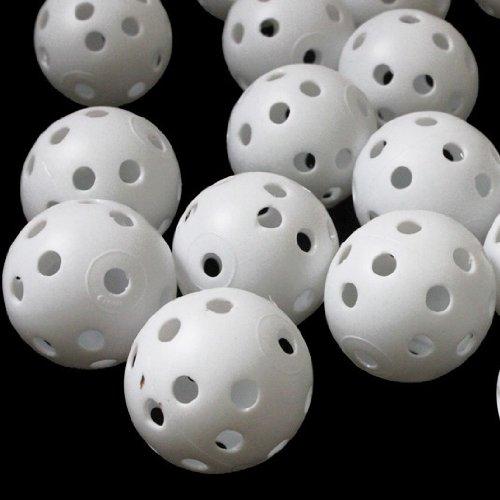Andux 100 Golf Plastic Practice Balls White, Outdoor Stuffs