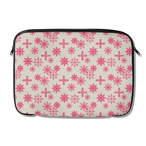 Uneekee Ice Crystals Pink Laptop Case 15 inch