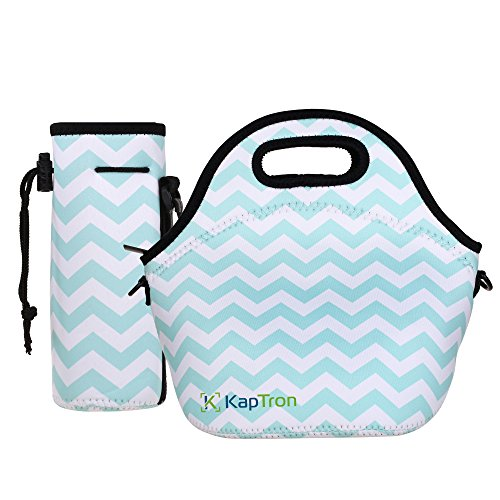 Kaptron Neoprene Lunch Bag, Thick insulated tote Lunch Box B