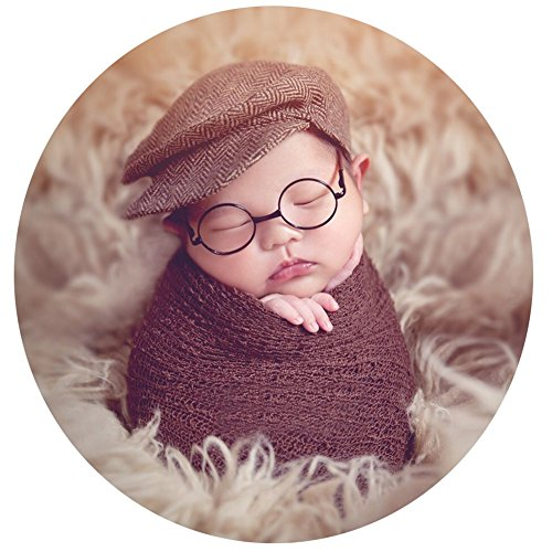Zeroest Baby Photography Props Newborn Boy Photo Shoot Outfits Infant Gentleman Glasses (Black Glasses)
