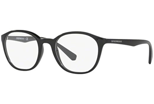 armani ea3079 eyeglass frames 5017 49 black - Emporio Armani Frames