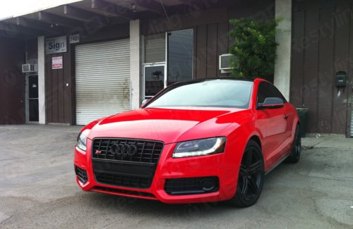 3M 1080 G13 GLOSS HOT ROD RED 3in x 5in (SAMPLE SIZE) Car Wrap Vinyl Film by 3M (Image #3)