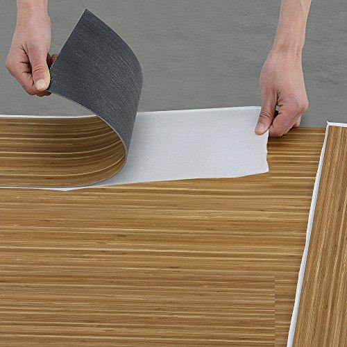 Neu Haus Vinyl Pvc Design Bodenbelag 0 976qm Selbstklebend Bambus