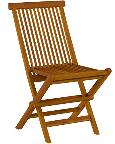 (Bare Decor BARE-DC1021 Vega Outdoor Folding Chair, Set of 2, Teak)