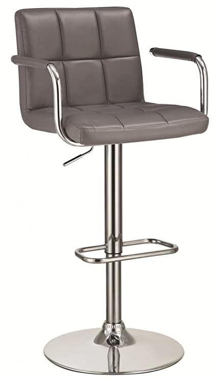 2829524c77dd Image Unavailable. Image not available for. Color  Upholstery Adjustable Bar  Stool ...