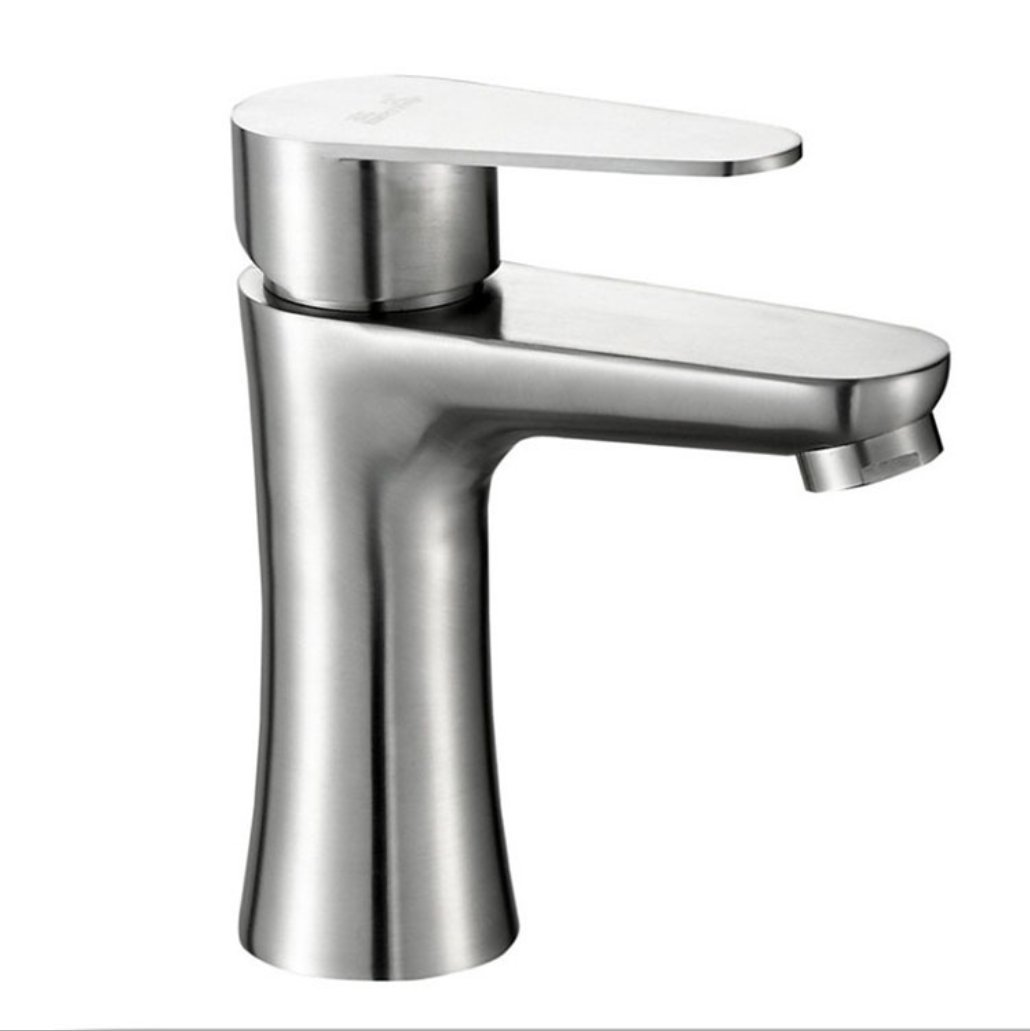 304 stainless steel faucet Xiaoman waist basin faucet sink mixer single hole hot and cold mixing valve