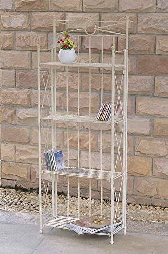 Iron 4-Tier Indoor/Outdoor Folding Bakers Rack by International Caravan