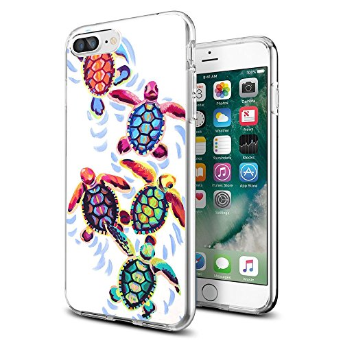 - for iPhone 7 Plus 8 Plus Case Clear with Cute Sea Turtles Design for iPhone Case 5.5