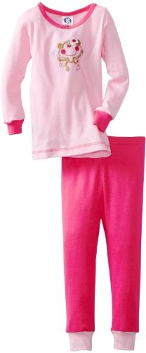 Gerber Baby Girls' Gerber 2 Piece Monkey Top With Pajama Pant