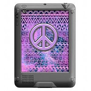 Skin Decal for LifeProof Nuud Apple iPad Gen 2/3/4 Case - Peace on Aztec Andes Purple Tribal Nebula