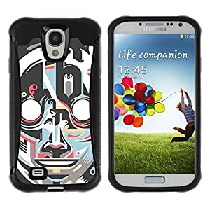 "Pulsar iFace Series Tpu silicona Carcasa Funda Case para Samsung Galaxy S4 IV I9500 , Robot Art Deco Cara Vintage Retro"""