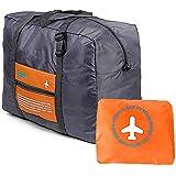 BOGZON Waterproof Nylon Foldaway Luggage For Travel,Campimg,Sports, Orange