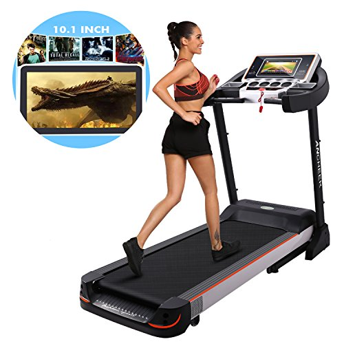 10.1 Inch WIFI Large Color Touch Screen 3.0 HP Folding Electric Treadmill