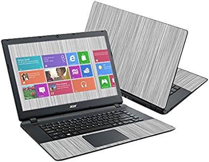 MightySkins Skin Compatible with Acer Aspire E15 ES1-511 15.6 Cover wrap Sticker Skins Steel