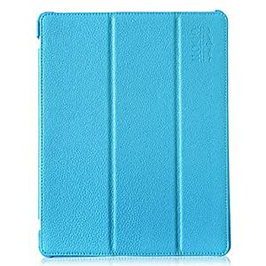 Ultrathin Foldable Lichee Pattern Full Body Case with Stand for iPad 2/3/4 (Assorted Colors) , Red