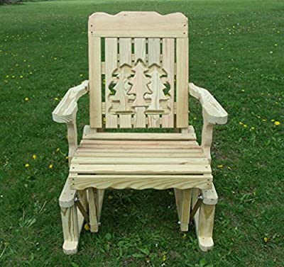 Pressure Treated Pine Designs Unfinished Outdoor Pines Cutout Glider Chair