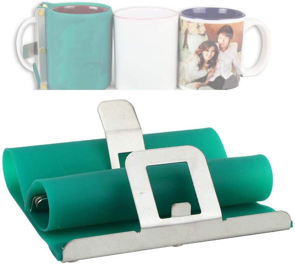 11oz Cup Clamp Fixture 3D Mug Transfer Sublimation Silicone Wrap Mold *1 pc