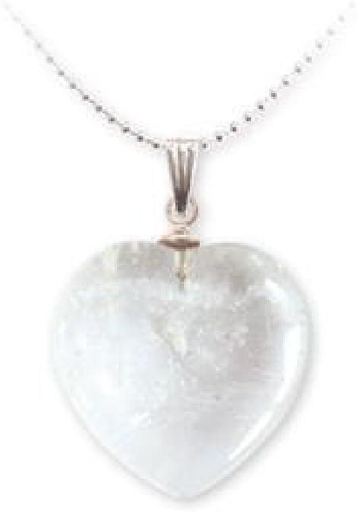 Colgante mineral de corazón – Cristal de roca
