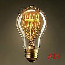 Neverland Beauty Incandescent Filament Nostalgic Vintage Light Bulb Retro (Edison Style) E27/E26 Base ES 40W Screw A19 - Squirrel Cage